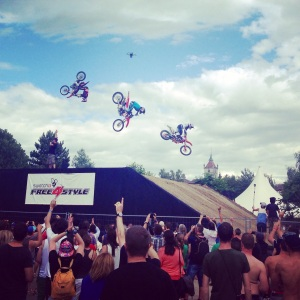 "Die FMX-Fahrer am ""Free4Style"" 2014."