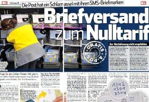 SonntagsBlick SMS-Briefmarke