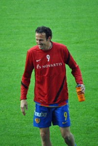 Marco Streller im Mai 2012 im St. Jakob Park in Basel.