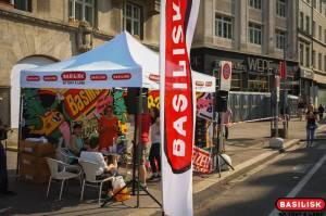 Der Stand von Radio Basilisk an der Bundesfeier 2013 in Basel