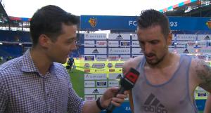 FC Basel-Mittelfeldspieler Zdravko Kuzmanovic im Interview nach dem 1. Spiel gegen den FC Vaduz